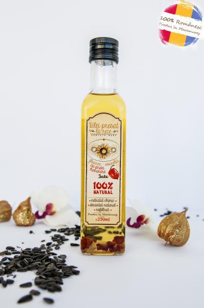 Ulei de floarea-soarelui cu ardei iute habanero